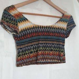 Tres Bien belly shirt top size Medium